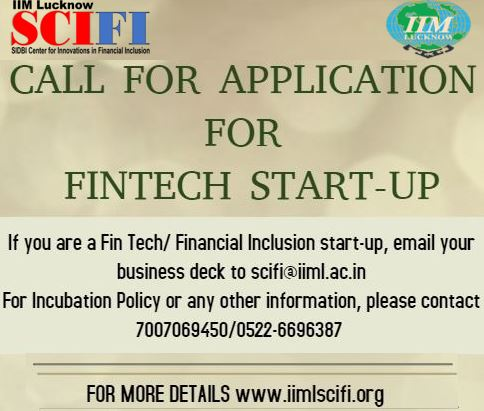 Email your business deck and filled in Application Form to: scifi@iiml.ac.in Deadline: January 18, 2020
