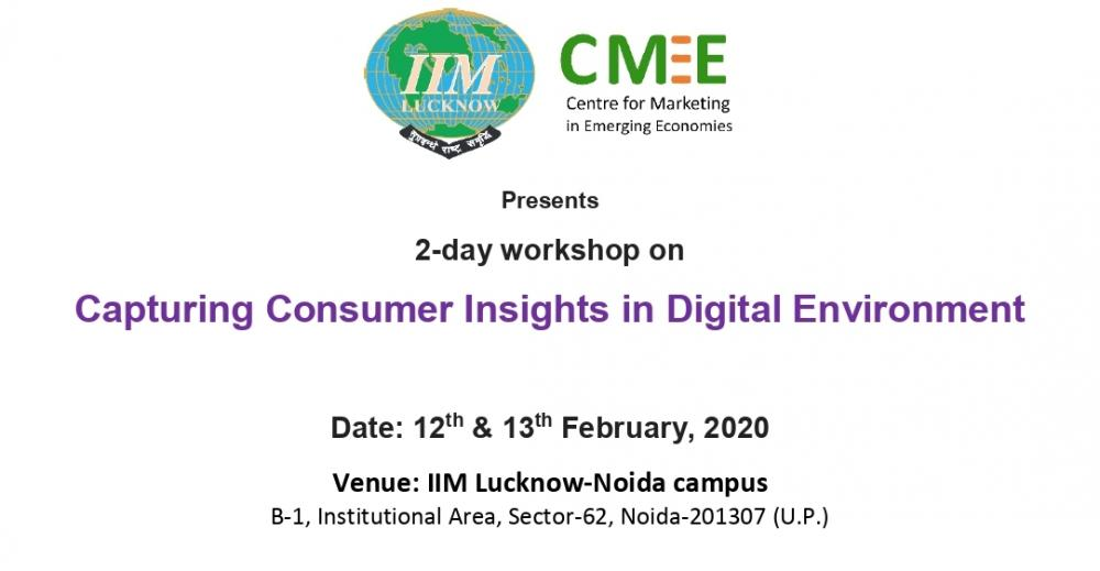 Workshop on Capturing Consumer Insights in Digital Environment