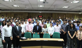 Leadership Talk Series session at IIM Lucknow Noida Campus